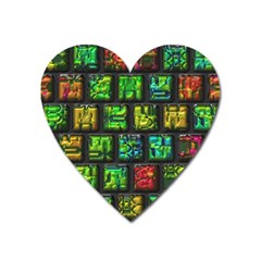 Colorful Buttons               			magnet (heart) by LalyLauraFLM
