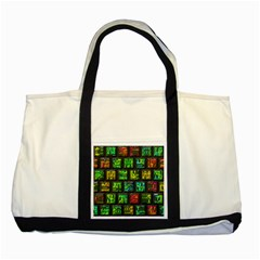 Colorful Buttons               			two Tone Tote Bag by LalyLauraFLM