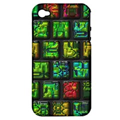 Colorful Buttons               			apple Iphone 4/4s Hardshell Case (pc+silicone) by LalyLauraFLM