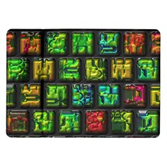 Colorful Buttons               samsung Galaxy Tab 10 1  P7500 Flip Case by LalyLauraFLM