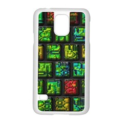 Colorful Buttons               samsung Galaxy S5 Case (white) by LalyLauraFLM