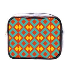 Blue Rhombus Pattern                mini Toiletries Bag (one Side) by LalyLauraFLM