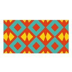 Blue Rhombus Pattern                Satin Shawl by LalyLauraFLM