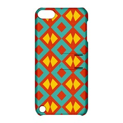 Blue Rhombus Pattern                			apple Ipod Touch 5 Hardshell Case With Stand by LalyLauraFLM