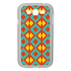 Blue Rhombus Pattern                			samsung Galaxy Grand Duos I9082 Case (white) by LalyLauraFLM
