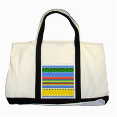 Colorful Chevrons And Waves                 			two Tone Tote Bag by LalyLauraFLM