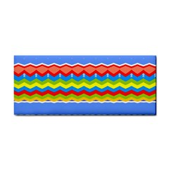 Colorful Chevrons And Waves                 			hand Towel by LalyLauraFLM
