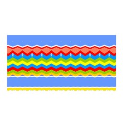 Colorful Chevrons And Waves                 Satin Wrap by LalyLauraFLM