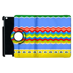 Colorful chevrons and waves                 			Apple iPad 2 Flip 360 Case by LalyLauraFLM
