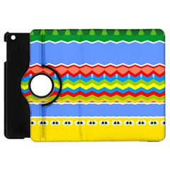 Colorful Chevrons And Waves                 			apple Ipad Mini Flip 360 Case by LalyLauraFLM