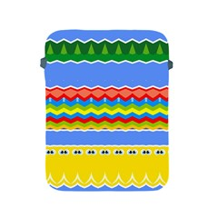 Colorful Chevrons And Waves                 apple Ipad 2/3/4 Protective Soft Case by LalyLauraFLM
