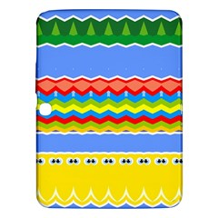 Colorful Chevrons And Waves                 			samsung Galaxy Tab 3 (10 1 ) P5200 Hardshell Case by LalyLauraFLM