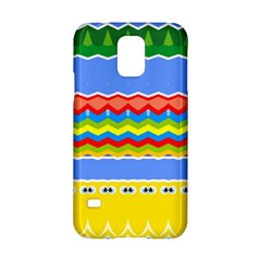 Colorful Chevrons And Waves                 samsung Galaxy S5 Hardshell Case by LalyLauraFLM
