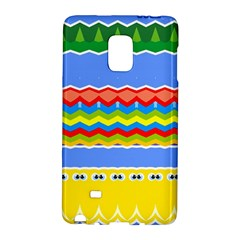 Colorful Chevrons And Waves                 samsung Galaxy Note Edge Hardshell Case by LalyLauraFLM