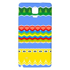 Colorful Chevrons And Waves                 			samsung Note 4 Hardshell Back Case by LalyLauraFLM