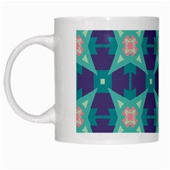 Blue Stars Pattern                  White Mug by LalyLauraFLM