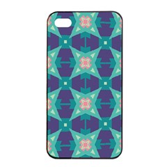 Blue Stars Pattern                  			apple Iphone 4/4s Seamless Case (black) by LalyLauraFLM