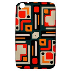 Shapes in retro colors texture                   Samsung Galaxy Tab 3 (8 ) T3100 Hardshell Case by LalyLauraFLM
