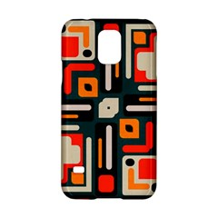 Shapes In Retro Colors Texture                   samsung Galaxy S5 Hardshell Case by LalyLauraFLM