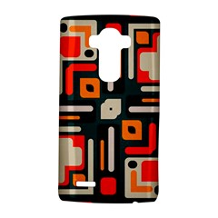 Shapes In Retro Colors Texture                   			lg G4 Hardshell Case by LalyLauraFLM