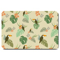 Tropical Garden Pattern Large Doormat