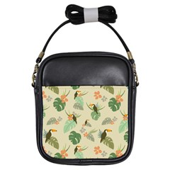 Tropical Garden Pattern Girls Sling Bags