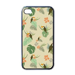 Tropical Garden Pattern Apple Iphone 4 Case (black)