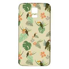 Tropical Garden Pattern Samsung Galaxy S5 Back Case (white)