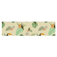 Tropical Garden Pattern Satin Scarf (oblong)