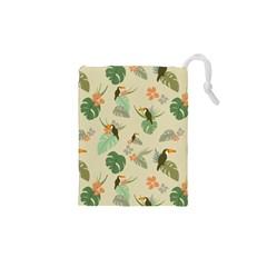 Tropical Garden Pattern Drawstring Pouches (XS)  by TastefulDesigns