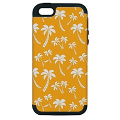 Summer Palm Tree Pattern Apple Iphone 5 Hardshell Case (pc+silicone)