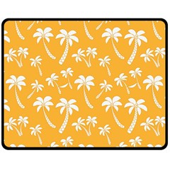Summer Palm Tree Pattern Double Sided Fleece Blanket (medium)