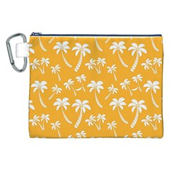 Summer Palm Tree Pattern Canvas Cosmetic Bag (xxl)  by TastefulDesigns