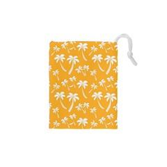 Summer Palm Tree Pattern Drawstring Pouches (xs)