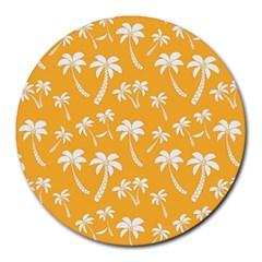 Summer Palm Tree Pattern Round Mousepads