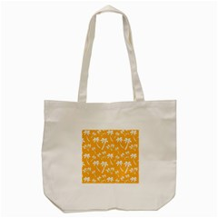 Summer Palm Tree Pattern Tote Bag (cream)