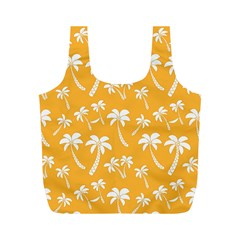 Summer Palm Tree Pattern Full Print Recycle Bags (m)