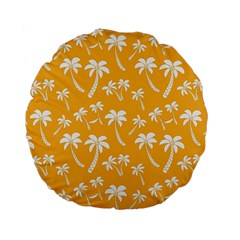 Summer Palm Tree Pattern Standard 15  Premium Flano Round Cushions by TastefulDesigns
