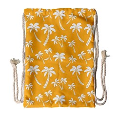 Summer Palm Tree Pattern Drawstring Bag (large)