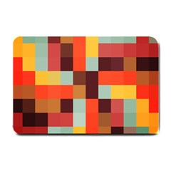 Tiled Colorful Background Small Doormat