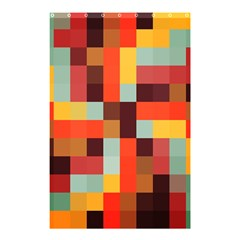 Tiled Colorful Background Shower Curtain 48  X 72  (small)  by TastefulDesigns