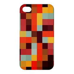 Tiled Colorful Background Apple Iphone 4/4s Hardshell Case
