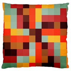 Tiled Colorful Background Large Cushion Case (one Side) by TastefulDesigns