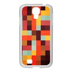 Tiled Colorful Background Samsung Galaxy S4 I9500/ I9505 Case (white)