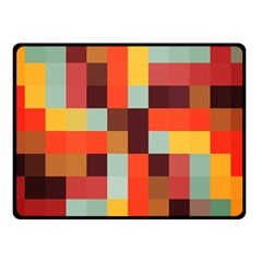 Tiled Colorful Background Double Sided Fleece Blanket (small)  by TastefulDesigns