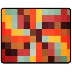 Tiled Colorful Background Double Sided Fleece Blanket (medium)  by TastefulDesigns