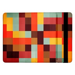 Tiled Colorful Background Samsung Galaxy Tab Pro 12 2  Flip Case