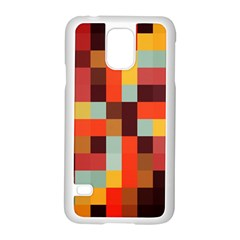 Tiled Colorful Background Samsung Galaxy S5 Case (white)