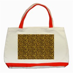 Animal Texture Skin Background Classic Tote Bag (red)