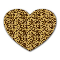 Animal Texture Skin Background Heart Mousepads by TastefulDesigns
